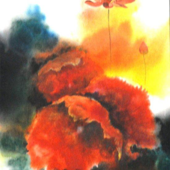 600x600 acrylic on canvas lotus  ii mohi paul %c2%a31 100