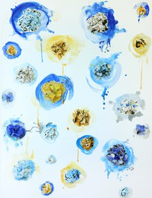 Crumpled flowers 1 Painting