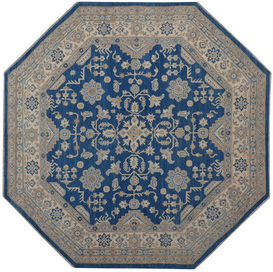 Geometric octagon blue rug talam   khaadi treniq 1 1521628912448