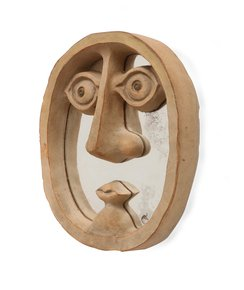 David-Gil-For-Bennington-Pottery-Mirror-In-Shape-Of-Face-With-Unglazed-Cera_Sergio-Jaeger_Treniq_0