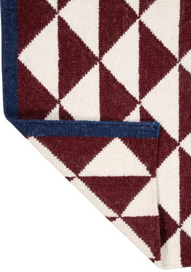 Maroon shards by ana   noush  contemporary handwoven wool rug ana   noush treniq 1 1521842331484