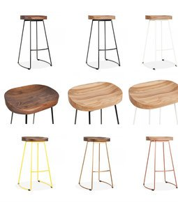 Stockholm-Stool-Wood-Top-Metal-Base-75cm-High_Cielshop_Treniq_1