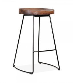 Stockholm-Stool-Wood-Top-Metal-Base-65cm-High_Cielshop_Treniq_0