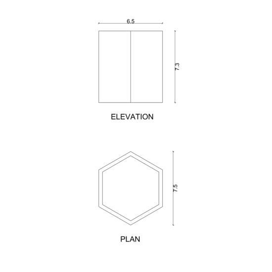 Hexagon planter karan desai design treniq 3 1522223233898