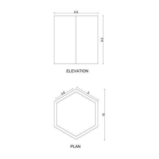 Hex box (m) candle karan desai design treniq 3 1522233852355