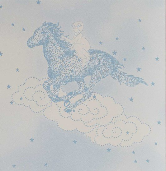 Hevensent popcorn dust dove blue wallpaper hevensent treniq 1 1522453739999