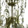 5 arm crystal chandelier in polished coloured brass gustavian style treniq 1 1522488007560