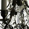6 arm crystal chandelier in dark coloured brass gustavian style treniq 1 1522519370330