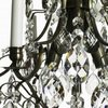 6 arm crystal chandelier in dark coloured brass gustavian style treniq 1 1522519370316
