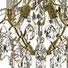 6 arm crystal chandelier in polished coloured brass gustavian style treniq 1 1522519613604