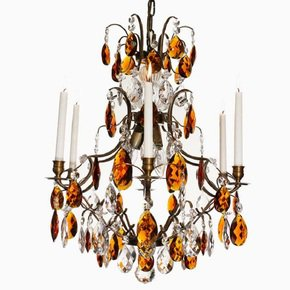 6-Arm-Crystal-Chandelier-In-Dark-Brass-With-Amber-Coloured-Crystals_Gustavian-Style_Treniq_0