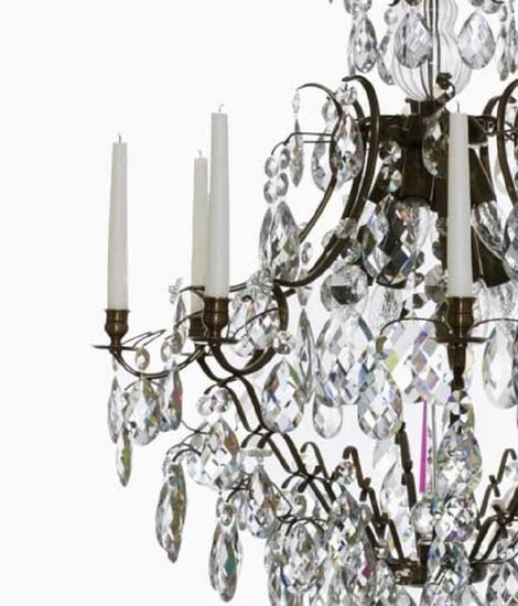 8 arm crystal chandelier in dark coloured brass gustavian style treniq 1 1522528200370