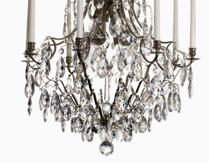 8 arm crystal chandelier in nickel plated brass gustavian style treniq 1 1522528298416