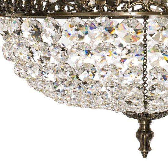 Empire crystal chandelier in dark brass gustavian style treniq 1 1522528470484