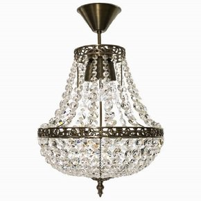 Empire-Crystal-Chandelier-In-Dark-Brass_Gustavian-Style_Treniq_0