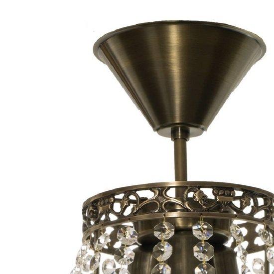 Empire crystal chandelier in dark brass gustavian style treniq 1 1522528470488