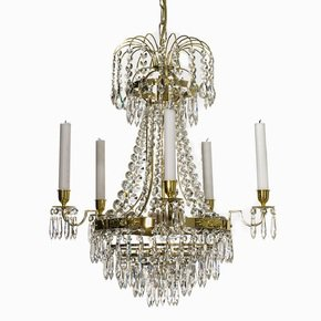 Empire-Crystal-Chandelier-In-Polished-Brass-With-Bottom-Of-Crystal-Drops_Gustavian-Style_Treniq_0