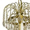 Empire crystal chandelier in amber coloured brass with a basket of crystal octagons gustavian style treniq 1 1522529022108