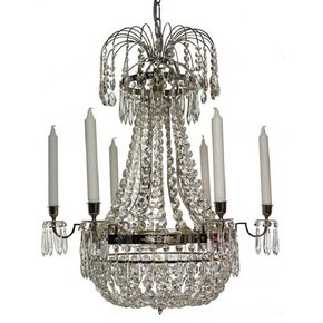 6-Arm-Empire-Crystal-Chandelier-In-Nickel-Plated-Brass-With-A-Basket-Of-Crystal-Octagons_Gustavian-Style_Treniq_0