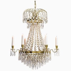 6-Arm-Empire-Crystal-Chandelier-In-Polished-Brass-With-Crystal-Drops_Gustavian-Style_Treniq_0