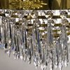 6 arm empire crystal chandelier in polished brass with crystal drops gustavian style treniq 1 1522530155856