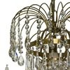 6 arm empire crystal chandelier in amber coloured brass with crystal drops gustavian style treniq 1 1522530694206