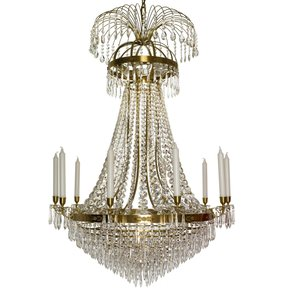 10-Arm-Empire-Crystal-Chandelier-In-Amber-Coloured-Brass-With-Crystal-Drops_Gustavian-Style_Treniq_0