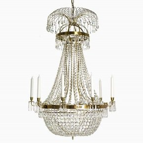 10-Arm-Empire-Crystal-Chandelier-In-Amber-Coloured-Brass-With-A-Basket-Of-Crystal-Octagons_Gustavian-Style_Treniq_0