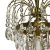Swedish crystal chandelier in amber coloured brass with basket shaped coloured glass bottom gustavian style treniq 1 1522573592140