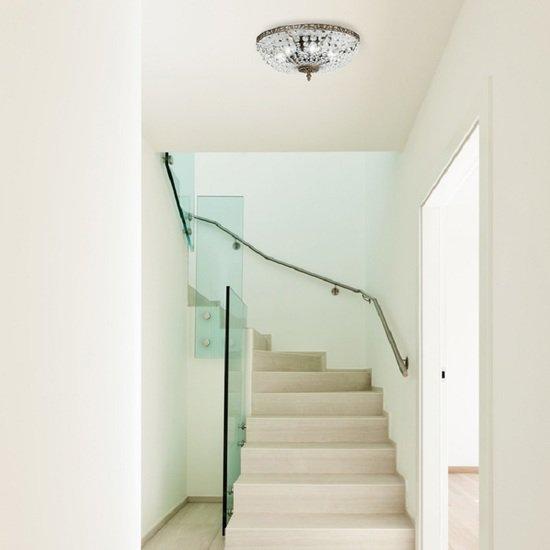 Crystal plafond chandelier in dark coloured brass with basket shaped crystal bottom gustavian style treniq 1 1522573745522