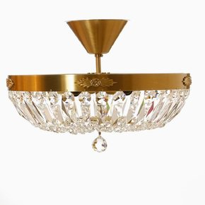 Crystal-Plafond-Chandelier-In-Amber-Coloured-Brass-With-Basket-Shaped-Crystal-Bottom_Gustavian-Style_Treniq_0