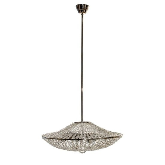 Empire style crystal chandelier in nickel plated brass with crystal octagons gustavian style treniq 1 1522575256512