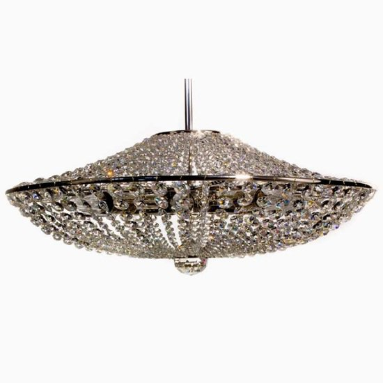 Empire style crystal chandelier in nickel plated brass with crystal octagons gustavian style treniq 1 1522575256460