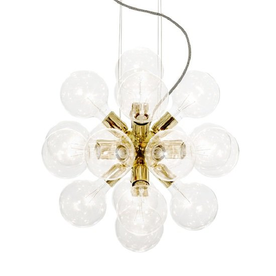 Modern glass chandelier in polished brass with 18 clear halogen bulbs gustavian style treniq 1 1522576565520