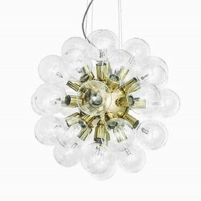 Modern-Glass-Chandelier-In-Polished-Brass-With-34-Clear-Halogen-Bulbs_Gustavian-Style_Treniq_0