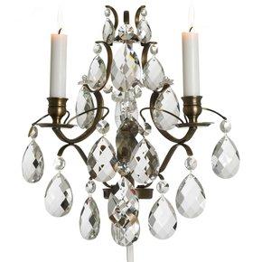 Rococo-Style-Wall-Sconce-In-Dark-Brass_Gustavian-Style_Treniq_0