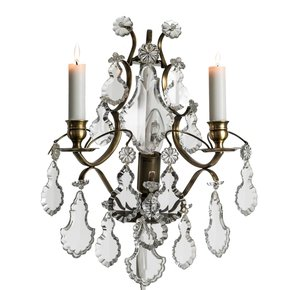 Rococo-Style-Wall-Sconce-In-Dark-Brass-With-Pendeloque-Crystals_Gustavian-Style_Treniq_0