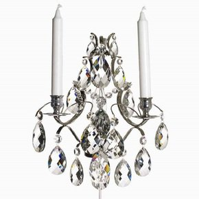 Rococo-Style-Wall-Sconce-In-Nickel-Plated-Brass-With-Almond-Shaped-Crystals_Gustavian-Style_Treniq_0