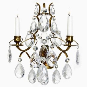 Rococo-Style-Wall-Sconce-In-Amber-Coloured-Brass-With-Clear-Cracked-Crystals_Gustavian-Style_Treniq_0