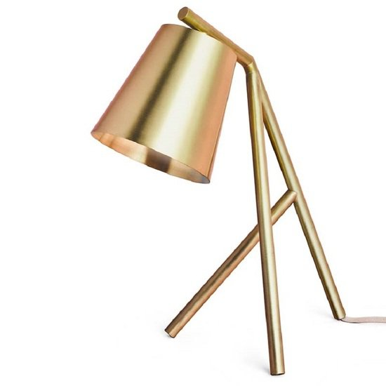 Table lamp brushed and lacquered brass gustavian style treniq 1 1522622543526