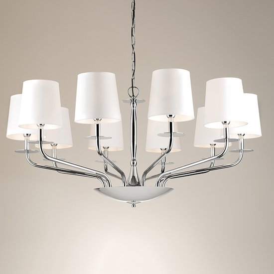 10 lamp polished chrome chandelier gustavian style treniq 1 1522667212512