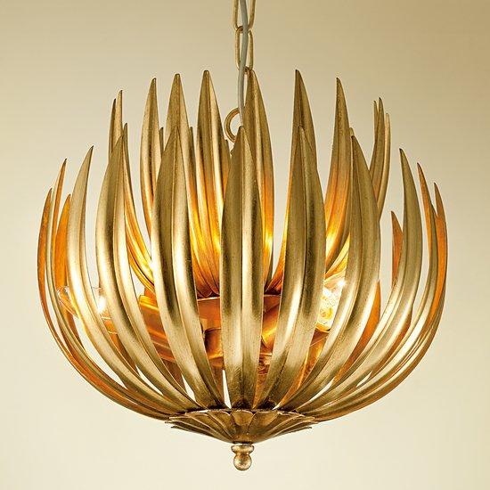 Florentine antique gold leaf artichoke light gustavian style treniq 1 1522667352152