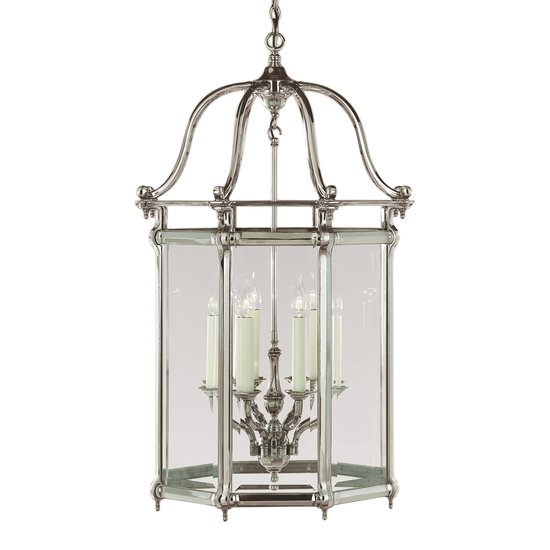 Large silver georgian 8 light lantern gustavian style treniq 1 1522668132770