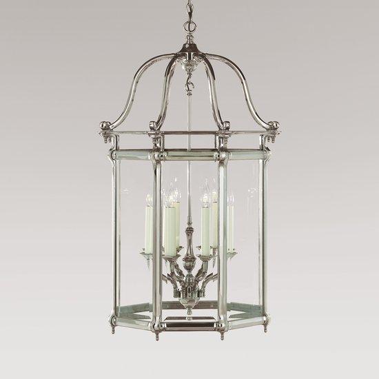 Large silver georgian 8 light lantern gustavian style treniq 1 1522668132854