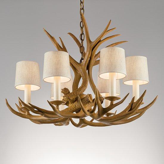 Natural antler light gustavian style treniq 1 1522670499490