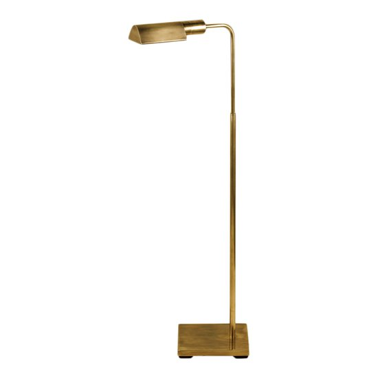 Floor standing antique brass reading lamp gustavian style treniq 1 1522671712302