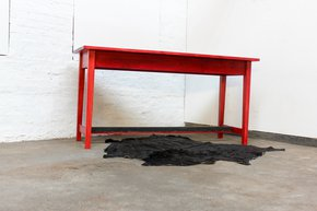 George-Bright-Red-Stained-New-Pine-Bar-Or-Dining-Table-With-Distressed-Zinc_Carla-Muncaster_Treniq_0