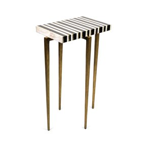 TB Stripe Side Table - Ginger Brown - Treniq