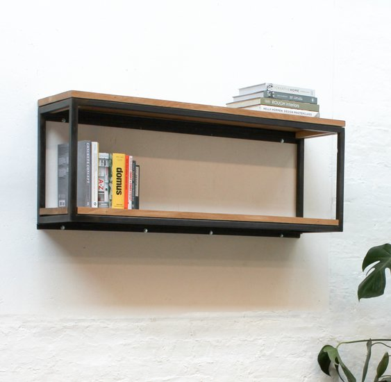 Orla welded dark steel box section and premium oak shelves carla muncaster treniq 1 1522918083877