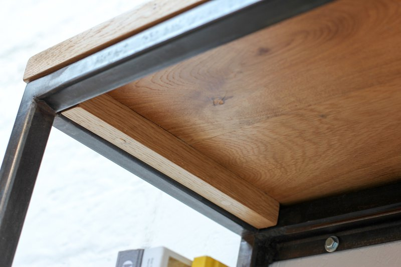Orla welded dark steel box section and premium oak shelves carla muncaster treniq 1 1522918083885